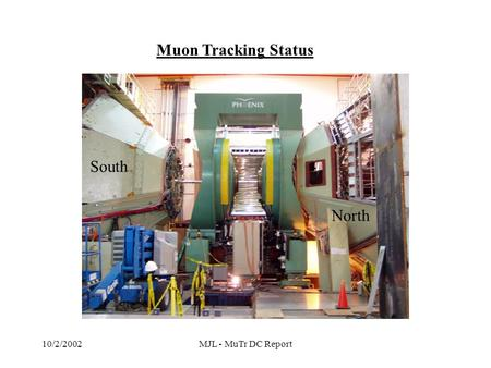10/2/2002MJL - MuTr DC Report Muon Tracking Status South North.