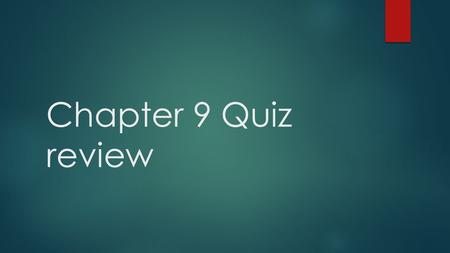 Chapter 9 Quiz review.  What is a statement of an individual citizen's legal privileges?