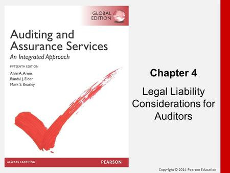 Legal Liability Considerations for Auditors