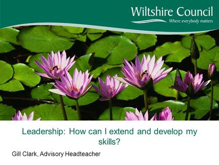 Gill Clark, Advisory Headteacher Leadership: How can I extend and develop my skills?