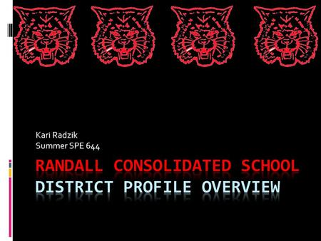 Kari Radzik Summer SPE 644. Who are we?  Randall Consolidated is a grade K-8 school that is located in southwestern Kenosha County, in Twin Lakes, WI.