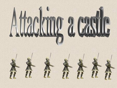 What is the best way to attack a castle? L/O: To be able to examine the different type of weapons used to attack castles! To use sources in order to.