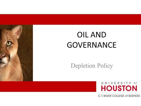 OIL AND GOVERNANCE Depletion Policy. 1 Some authors (Stevens 2008) say that measuring the performance of NOCs is difficult and controversial. These are.