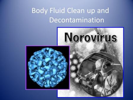 Body Fluid Clean up and Decontamination. Be Careful Clean up people must take special precautions to protect themselves from contamination. Bodily fluids.