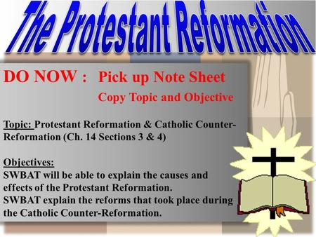 essays catholic counter reformation Best answer: the counter reformation is generally seen as the roman catholic reaction to the protestant reformation primarily via the council of trent (from 13 december, 1545, and concluding on 4 december, 1563.