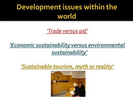 Debate: Trade vs aid