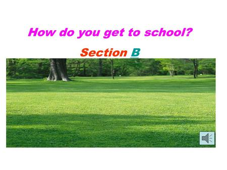 How do you get to school? Section BB 1a Match the words with the pictures. bus stop bus station train station subway station b b c c a a d d.