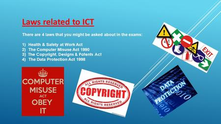 ict health and safety act Health and safety training in ict is also a broad term which does not necessarily mean training in relation to the actual usage of computers and dse.