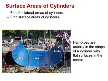 Surface Areas of Cylinders