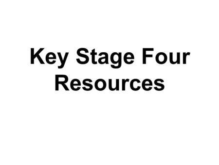 Key Stage Four Resources. The key aim for the week is: To ensure all young people are equipped to recognise and challenge bullying behaviour wherever.