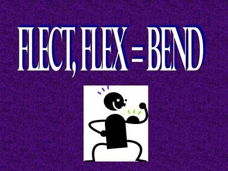 circumflex To bend around or curvedeflect To turn or move to one side; to bend; to swerve flexible Capable of bending without breaking flexor A muscle.