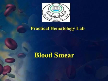 Practical Hematology Lab