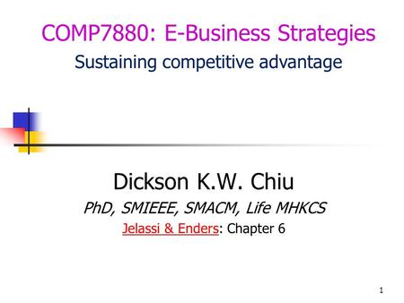 COMP7880: E-Business Strategies