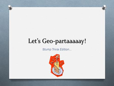 Let's Geo-partaaaaay! Stump Trivia Edition…. Round 1 Categories O Islam O Vocab O Types of Islam O Terrorism.