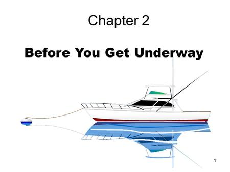 1 Chapter 2 Before You Get Underway. 2 Capacity Plate Why is this important? 1.