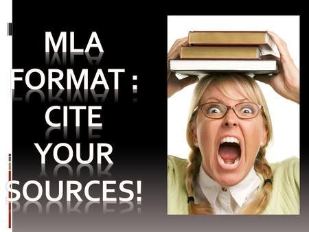In MLA style, referring to the works of others in your text is done by using what is known as parenthetical citation. Any source information that you.