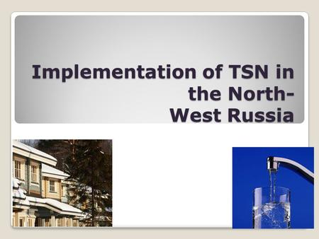 Implementation of TSN in the North- West Russia. Destination point The 15-th of September organization of Sustainability seminar in St. Petersburg for.
