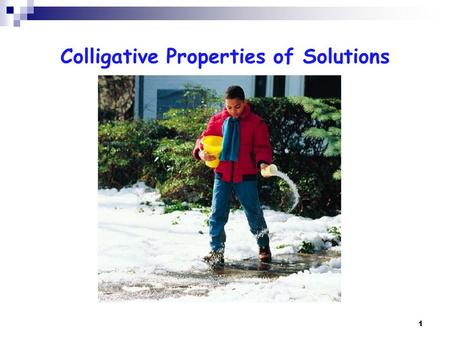 1 Colligative Properties of Solutions. 2 Colligative Properties Colligative properties are physical properties of solutions that change when adding a.