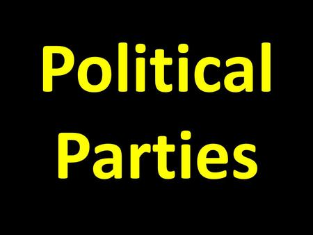 Political Parties. Unit 2 History/creation Of the US Gov't Unit 3 US Gov't Unit 4 Politics or How to get into the gov't.
