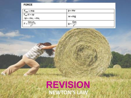REVISION NEWTON'S LAW. Quantity with magnitude and direction. e.g. displacement, velocity, acceleration, force and weight.. VECTOR Quantity having only.