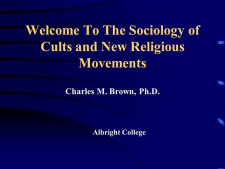 Sociological Theories of Religion