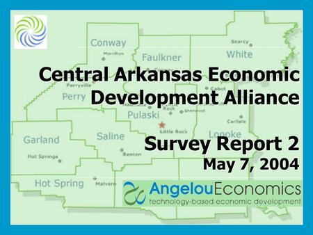 Central Arkansas Economic Development Alliance Survey Report 2 May 7, 2004.