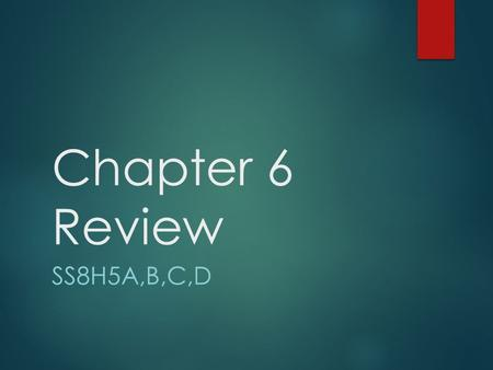 "Chapter 6 Review SS8H5A,B,C,D. Headright System  The ""head"" of each family was entitled to 200 acres of land plus an additional 50 acres for each family."