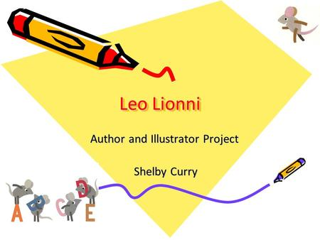Author and Illustrator Project Shelby Curry