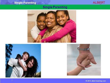 © 2015 albert-learning.com Single Parenting. © 2015 albert-learning.com Single Parenting Vocabulary Visitation: a formal visit, as one granted by a court.
