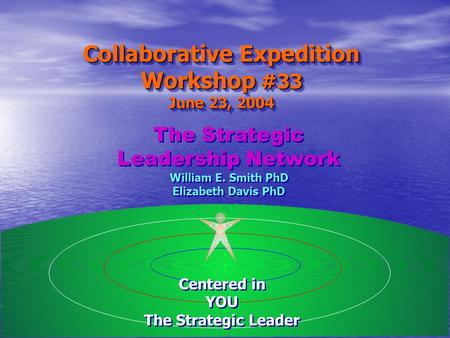The Strategic Leadership Network William E. Smith PhD Elizabeth Davis PhD The Strategic Leadership Network William E. Smith PhD Elizabeth Davis PhD Collaborative.