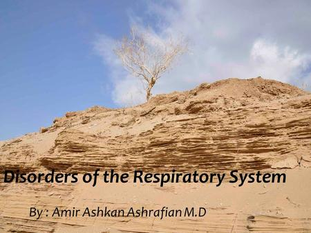 Disorders of the Respiratory System By : Amir Ashkan Ashrafian M.D.