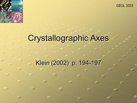 Crystallographic Axes