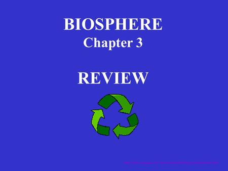 BIOSPHERE Chapter 3 REVIEW