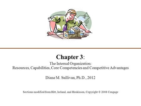 Chapter 3: The Internal Organization: Resources, Capabilities, Core Competencies and Competitive Advantages Diane M. Sullivan, Ph.D., 2012 Sections modified.