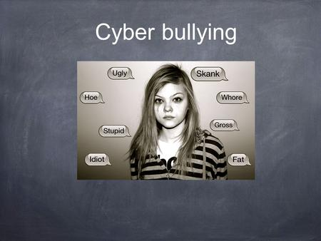 Cyber bullying. For people 15-24 years old, suicide is the third leading cause of death... -71.9% reported being cyber-bullied once or twice in the school.