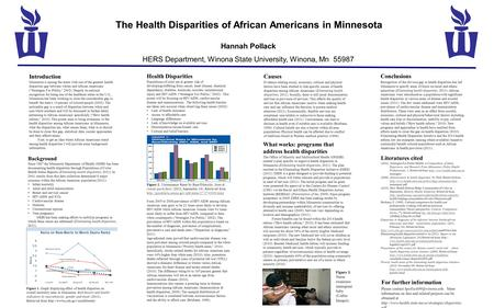 Introduction Minnesota is among the states with one of the greatest health disparities gap between whites and African Americans (Strategies For Public,