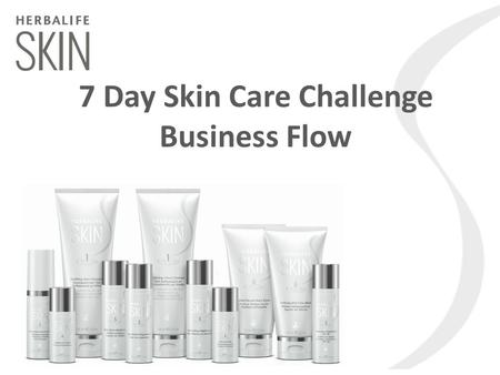 7 Day Skin Care Challenge Business Flow. Herbalife SKIN is our new skin care range and it's been clinically tested to show it gets results in 7 Days*!