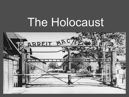 The Holocaust. Part I: The Beginning Stages Vocabulary Anti-Semitism - Prejudices toward Jews or discrimination against them. Genocide -Planned, systematic.