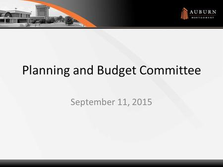 Planning and Budget Committee September 11, 2015.
