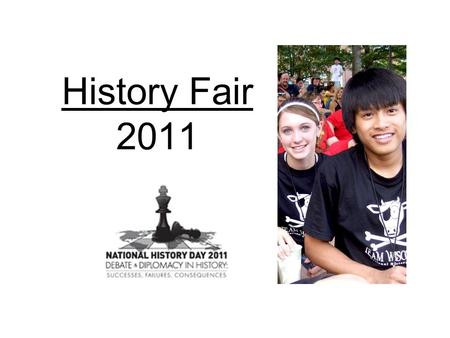 History Fair 2011. What is History Fair? *Our school district holds an annual event where you can display a history project and have it judged for its.