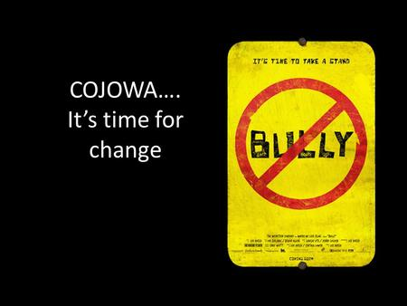 COJOWA…. It's time for change. COJOWA's video