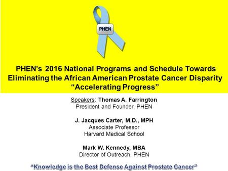 African American men diagnosed with very low-risk prostate cancers are ...
