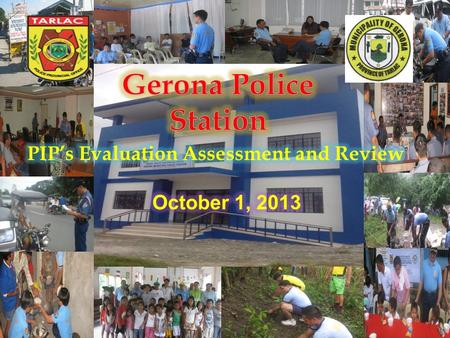 Nature of the Case TDPO Solved Unsolved Alleged Theft 12:40 PM of September 22, 2013 Brgy Abagon, Gerona, Tarlac  Robbery Holdup 12:16 PM of September.