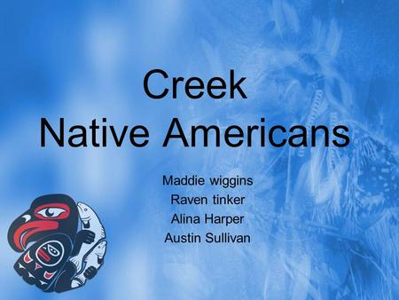Creek Native Americans