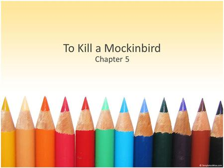 To Kill a Mockinbird Chapter 5. Jem Jem and Dill played less with Scout. Jem is fascinated by Boo Radley and can't leave him alone He tries to make contact.