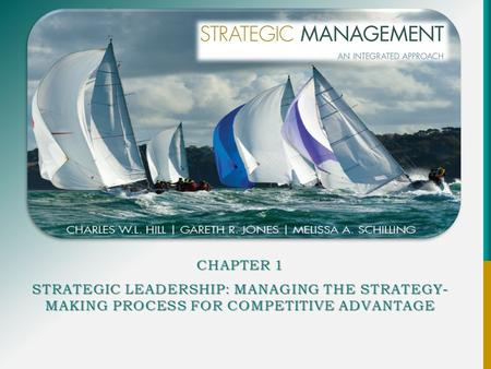 CHAPTER 1 STRATEGIC LEADERSHIP: MANAGING THE STRATEGY- MAKING PROCESS FOR COMPETITIVE ADVANTAGE.