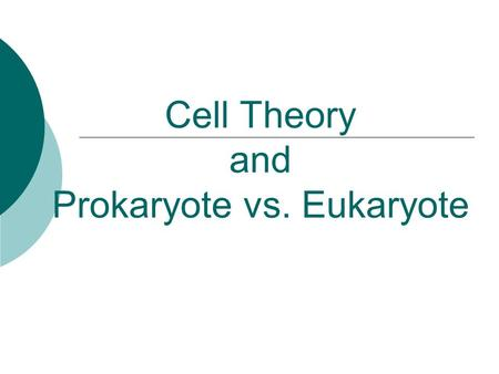 Cell Theory and Prokaryote vs. Eukaryote. What is a Cell?  Cell – Basic unit of living things. Organisms are either:  Unicellular – made of one cell.