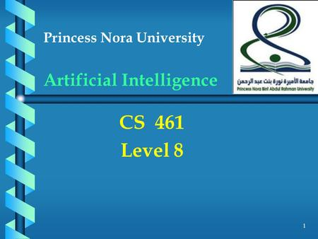 Princess Nora University Artificial Intelligence CS 461 Level 8 1.