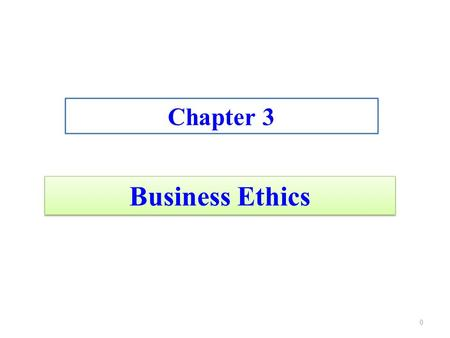 "Business Ethics Chapter 3 0. Business Ethics ""doing well by doing good"" 1."
