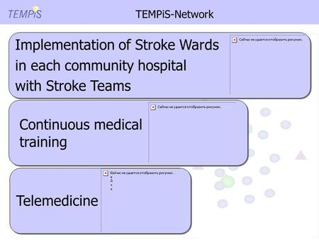 TEMPiS-Network 4 Stroke Unit Stroke Centers Network-Hospital Implementation of Stroke Wards in each community hospital with Stroke Teams Implementation.